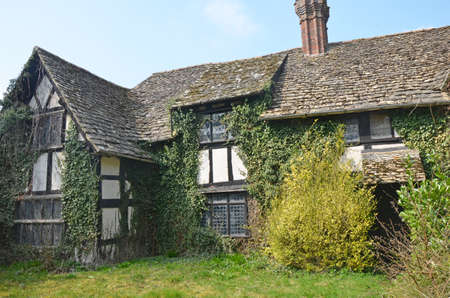 derelict: derelict and neglected historic house in England