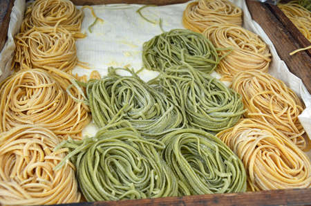 close up of fresh pasta