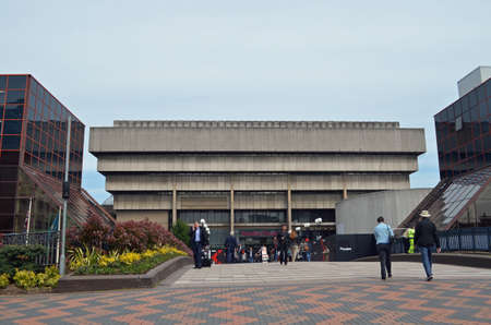 Birmingham, UK - May, 15: view of the old central library in Birmingham, UK on May 15, 2015. Built in the Brutalist style, the building will soon be demolished. Editorial