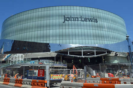 Birmingham, UK - June 4: construction of the new John Lewis store in Birmingham, UK on June 4, 2015. The store is due to open in September 2015 and will be the largest outside London. Editorial