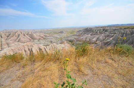 view of Badlands National Park in South Dakota