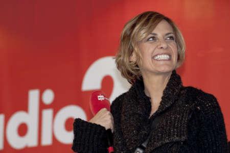 sanremo: Sanremo Festival 2015. Rai2 interview Irene Grandi Editorial