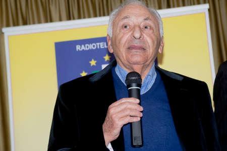 sanremo: Sanremo Festival 2015. Mogol songwriter Lucio Battisti at Casino Sanremo Editorial
