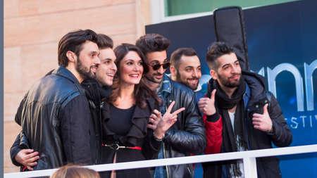 sanremo: Festival di Sanremo 2015. red carpet, intervista ai dear jack