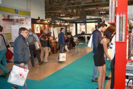 MILAN, ITALY - October 16, 2015: Viscom Italy: international conference and exhibition of visual communication fair in Milan Sajtókép