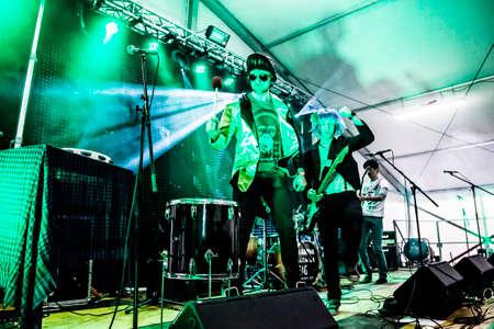 reportage: Reportage of a rock concert in a marquee in Borgo Grotta Circus, Trieste