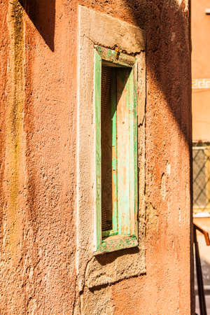smal: Typical windows of the Istrian-Venetian town, Muggia, on the border with Slovenia