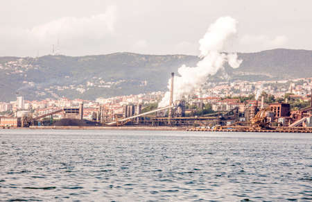 steel mill: The steel mill in the Vallone of Muggia, Trieste, Italy Editorial