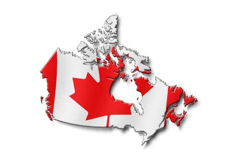 map Canada Banco de Imagens