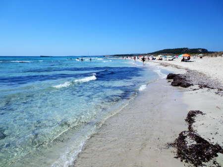 Son Bou beach in Menorca, Balearic Islands, Spain Banco de Imagens