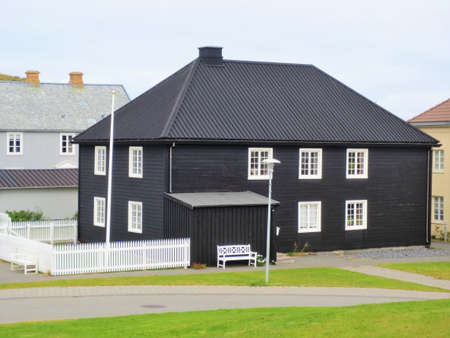 Traditional wooden black house in Stykkisholmur, Iceland