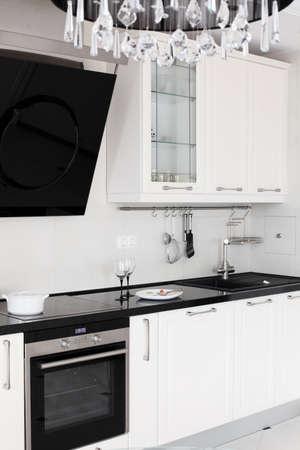 contemporary kitchen: european brand new bright kitchen in the house