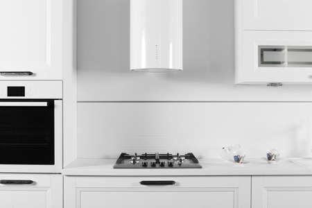 kitchen detail: european brand new bright kitchen in the house
