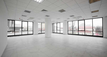 brand new interior of office with white walls photo