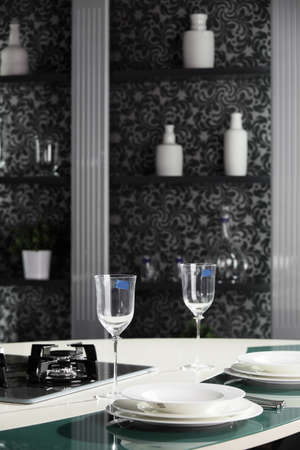 brand new and modern kitchen in european style Stock Photo - 19365037