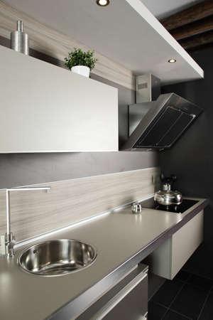 interior of brand new modern and stylish kitchen Stock Photo - 19640432