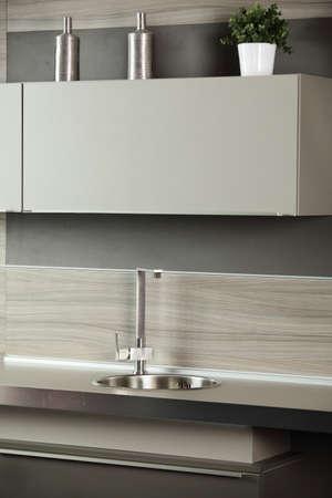 interior of brand new modern and stylish kitchen Stock Photo - 19640481