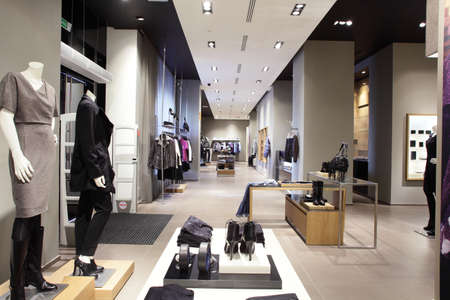 interior of brand new fashion clothes store Stock Photo - 22133146