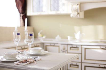 interior of brand new modern and stylish kitchen Stock Photo - 21099713