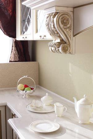 inter of brand new modern and stylish kitchen Stock Photo - 21099714