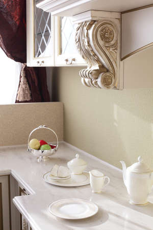 interior of brand new modern and stylish kitchen Stock Photo - 21099714