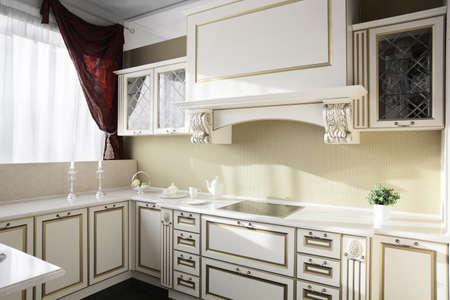 interior of brand new modern and stylish kitchen Stock Photo - 22133175