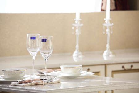 interior of brand new modern and stylish kitchen Stock Photo - 21099715
