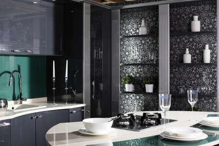 inter of brand new modern and stylish kitchen Stock Photo - 22133260