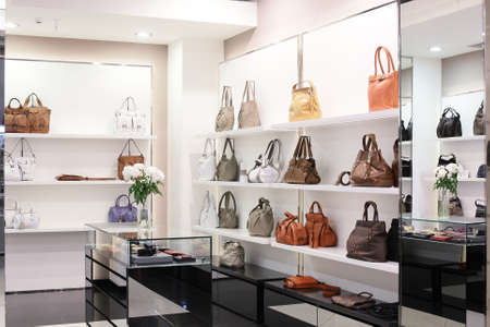 furniture store: bright and luxury european bag and jewellery store