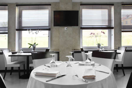new and clean luxury restaurant in european style Stock Photo - 21557102