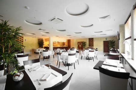 new and clean luxury restaurant in european style Editorial