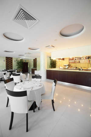 new and clean luxury restaurant in european style Stock Photo - 21557108