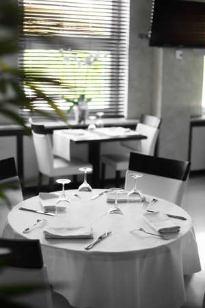 new and clean luxury restaurant in european style Stock Photo - 21557116