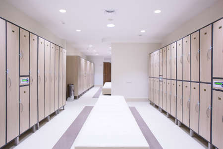 dressing room: luxury and very clean dressing room in european style Stock Photo