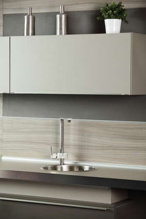 inter of brand new modern and stylish kitchen Stock Photo - 22115016