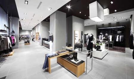 luxury and fashionable european different clothes shop Reklamní fotografie