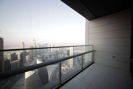 high end balcony in downtown of dubai photo