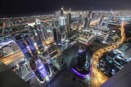 marina: panoramic views of downtown of dubai city Stock Photo