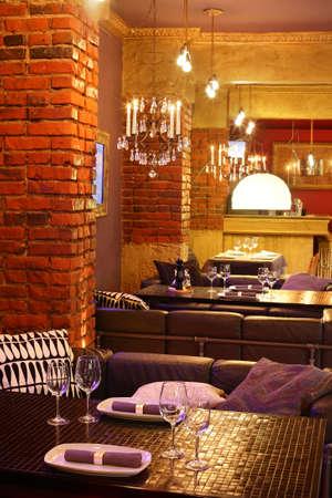 new and clean luxury restaurant in european style Zdjęcie Seryjne
