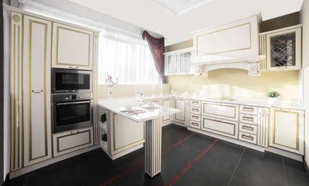 inter of brand new modern and stylish kitchen Stock Photo - 22134028