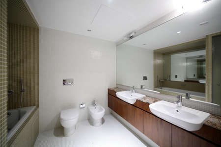 luxury and very clean toilet in european style photo