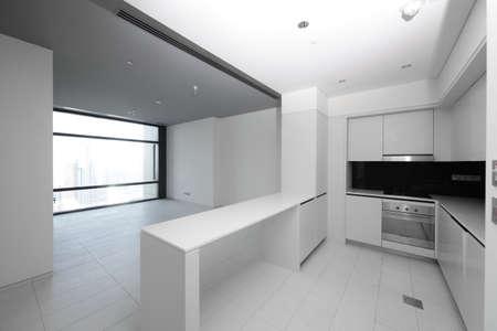 kitchen detail: luxury and very clean empty european kitchen