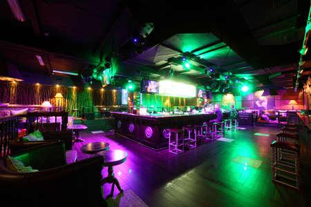 club: nuovo e pulito night club di lusso in stile europeo Archivio Fotografico