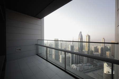 high end balcony in downtown of dubai Zdjęcie Seryjne