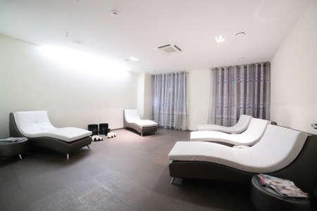 bright modern and luxury european spa room photo