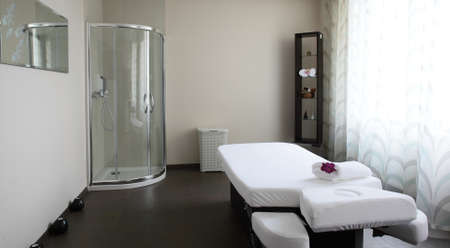 luxury and very clean massage room in european style photo