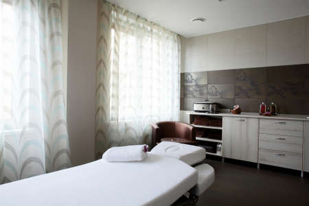 departments: luxury and very clean massage room in european style