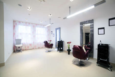 brand new and very clean european hair salon photo