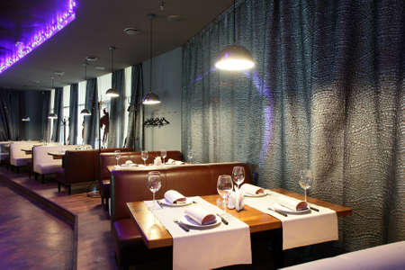night club interior: new and clean luxury restaurant in european style Stock Photo