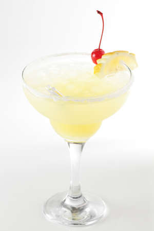 fresh and cold cocktail on white background photo